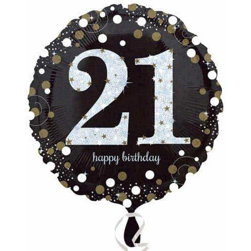 Gold And Black 21st Birthday Foil Balloon
