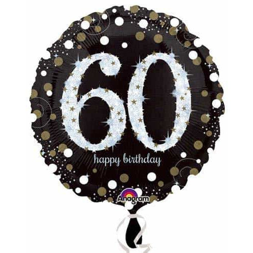 Gold And Black 60th Birthday Foil Balloon