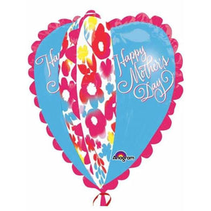 Happy Mothers Day Ultra Shape Heart Balloon - mypartymonsterstore
