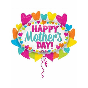 Mothers Day Hearts Marquee Shape Balloon