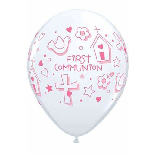 First Communion Girls Latex Balloons 25ct