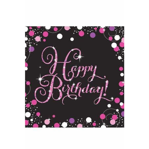 Pink Celebration Birthday Lunch Napkins 16pk