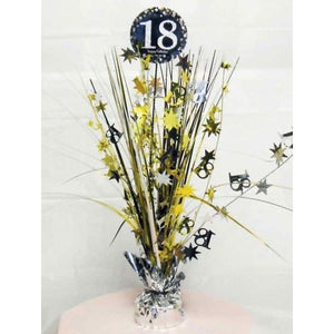 Gold Celebration 18th Centrepiece Spray - mypartymonsterstore