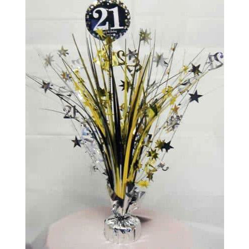 Gold Celebration 21st Centrepiece Spray