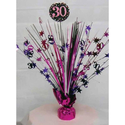 Pink Celebration 30th Centrepiece Spray