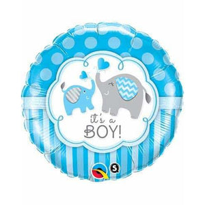 Its A Boy Elephant Foil Balloon - mypartymonsterstore
