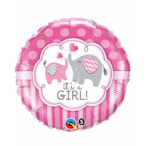 Its A Girl Elephant Foil Balloon