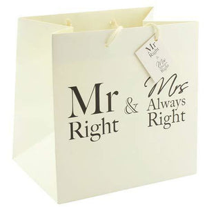 Mr And Mrs Always Right Medium Gift Bags - mypartymonsterstore