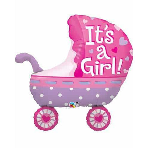 Its A Girl Baby Stroller Supershape Balloon