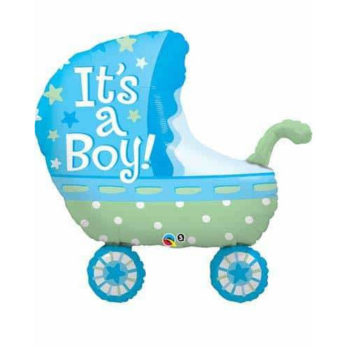 Its A Boy Baby Stroller Supershape Balloon