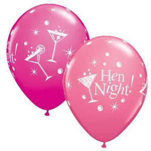 Hen Night Bubbly Latex Balloons 25pk