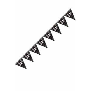 Gold Celebration 18th Pennant Banner - mypartymonsterstore