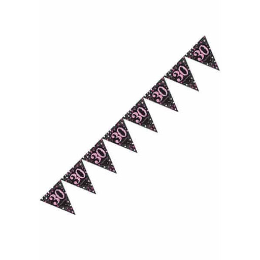 Pink Celebration 30th Pennant Banner