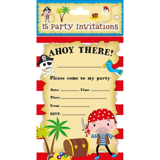 Pirate Party Invitations 8pk