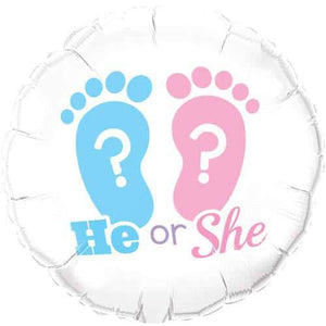 He Or She Footprints Foil Balloon