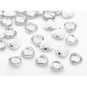 Silver Heart Shaped Table Diamantes