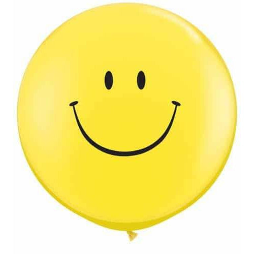 Smile Face Neck Down Giant Latex Balloons x2