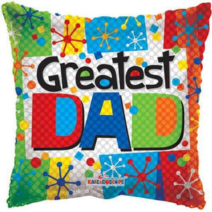 Greatest Dad Foil Balloons - mypartymonsterstore