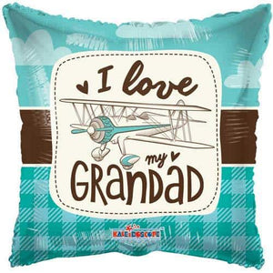 I Love My Grandad Foil Balloons - mypartymonsterstore