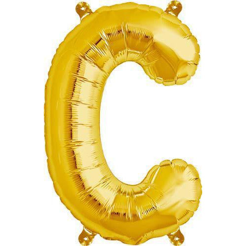 Gold Letter C Air Filled Balloons