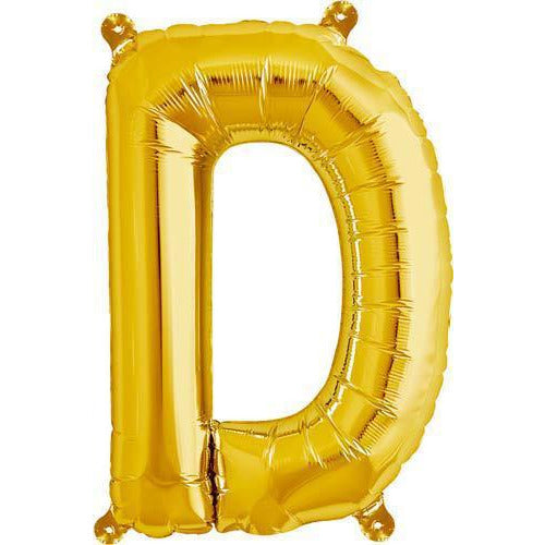 Gold Letter D Air Filled Balloons