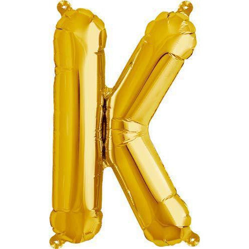 Gold Letter K Air Filled Balloons