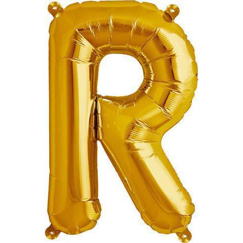 Gold Letter R Air Filled Balloons