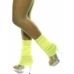 Neon Yellow Leg Warmers - mypartymonsterstore