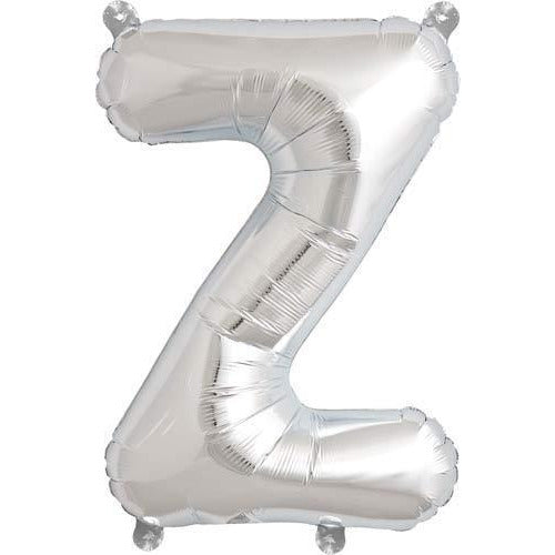 Silver Letter Z Air Filled Balloons