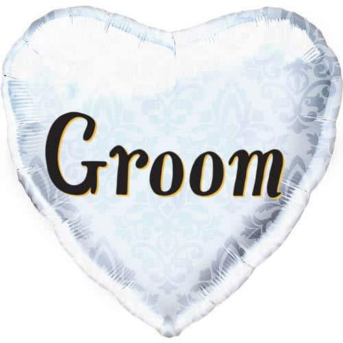 Groom Heart Shape Foil Balloons