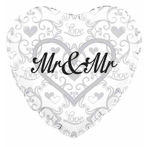 Mr And Mr Heart Shape Foil Balloons