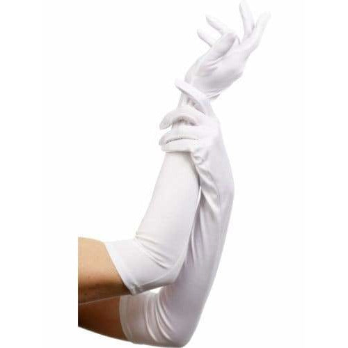 Long White Gloves