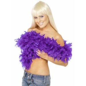 Purple Deluxe Feather Boa
