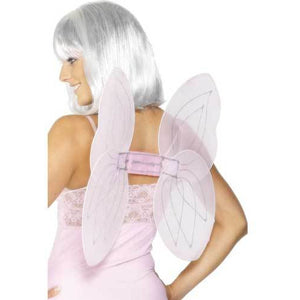 Pink and Silver Angel Glitter Wings - mypartymonsterstore