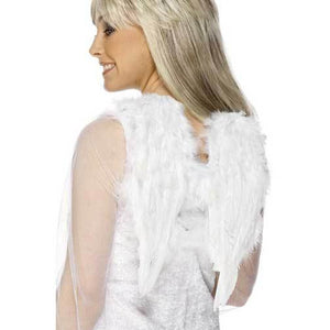 White Feathered Angel Wings - mypartymonsterstore