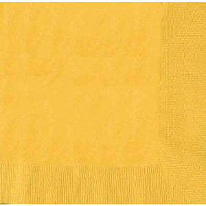 Yellow Paper 2ply Napkins 20pk - mypartymonsterstore
