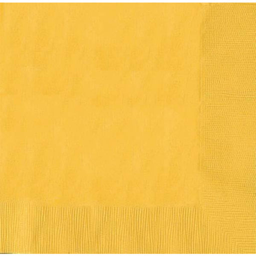 Yellow Paper 2ply Napkins 20pk