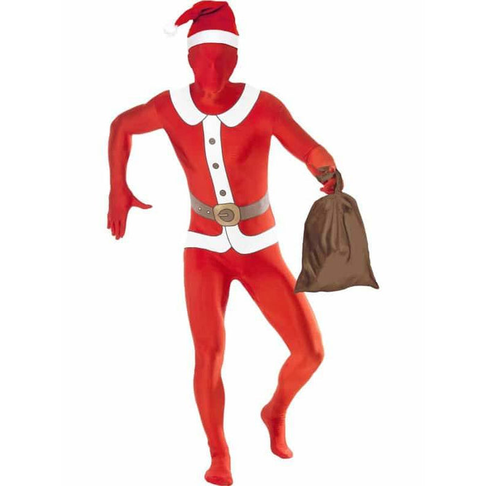 Second Skin Santa Suit Costume