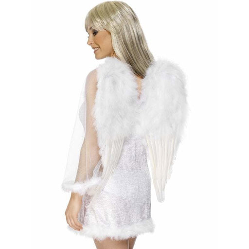 White Feathered Angels Wings