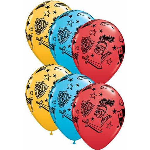 Knights And Armour Assorted Latex Balloons 25ct