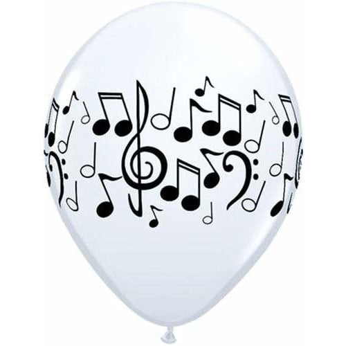 Music Notes Latex Balloons x25