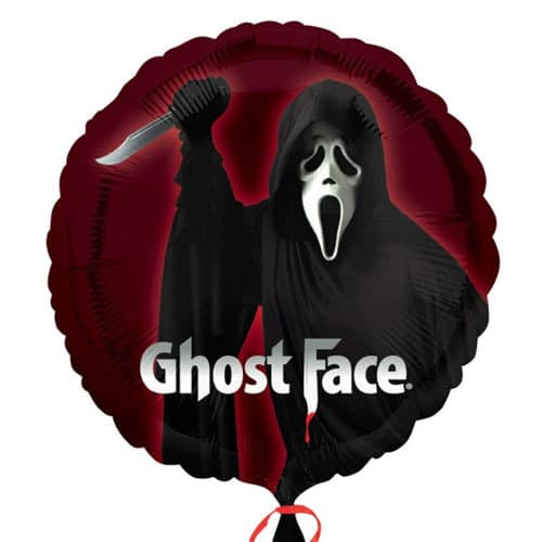 Ghost Face Halloween Foil Balloons