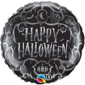 Goth Scroll Halloween Foil Balloons - mypartymonsterstore