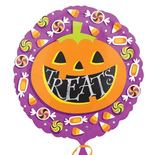 Pumpkin Treats Halloween Foil Balloons