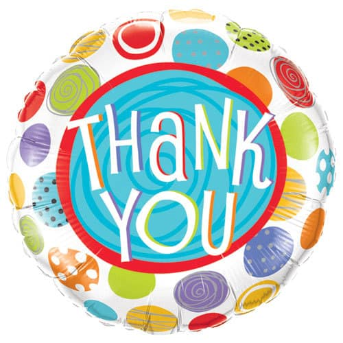 Thank You Patterned Dots Foil Balloon
