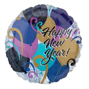 New Years Balloons Foil Balloons - mypartymonsterstore