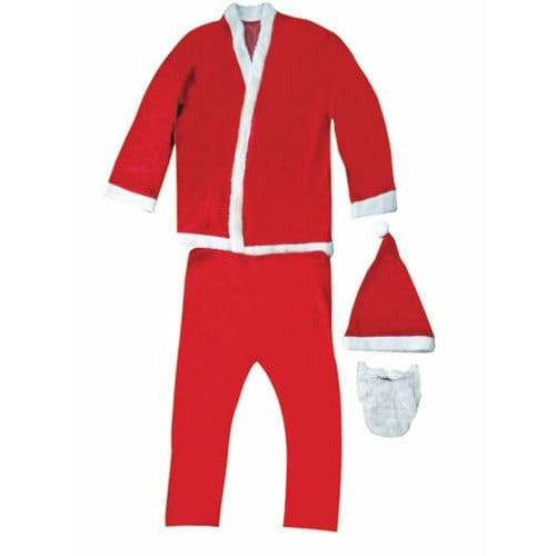 Plush 5 Piece Santa Suit Costume