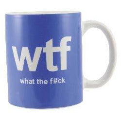 Text Mug What The F*ck WTF - mypartymonsterstore