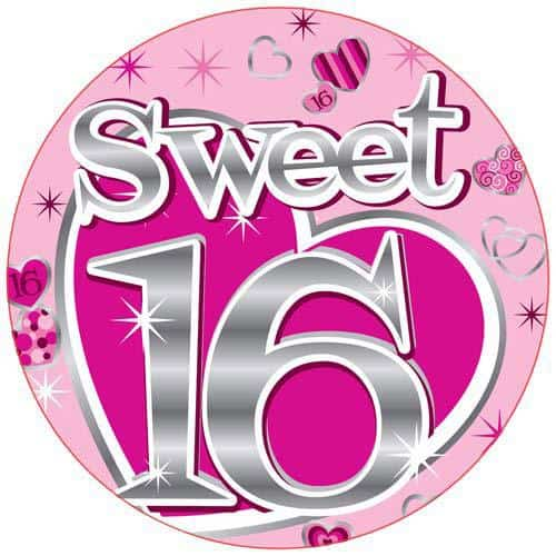 Sweet 16 Party Badge