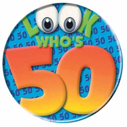 Look Whos 50 Big Badge